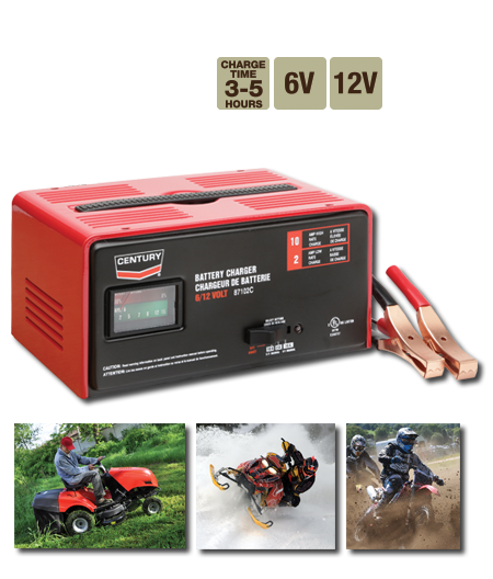 Century - Battery Service Equipment - 87102C, 6 & 12V, 10 Amp Manual Battery Charger